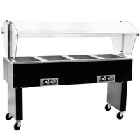 Eagle Group BPDHT4 Deluxe Service Mates Four Pan Open Well Portable Hot Food Buffet Table with Open Base - 240V, 3 Phase