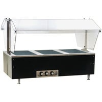 Eagle Group CDHT3 Deluxe Service Mates Three Pan Open Well Tabletop Hot Food Buffet Table with Enclosed Base - 120V