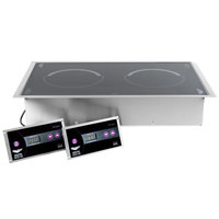Vollrath 69508 Ultra Series Dual Hob Drop In Front to Back Induction Cooker Range - 208/240V
