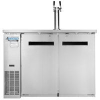 Avantco UDD-24-48 S/S Stainless Steel Kegerator / Beer Dispenser with Double Tap Tower - (2) 1/2 Keg Capacity