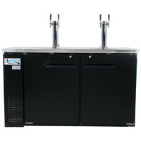 Avantco UDD-24-60 (2) Double Tap Kegerator Beer Dispenser - Black, (2) 1/2 Keg Capacity