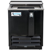 "Avantco JBC-25 25"" Black Commercial Horizontal Beer Bottle Cooler - 115V"