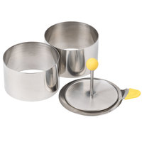 Ateco 4952 3 1/2 inch x 2 inch Stainless Steel 4-Piece Round Molding Kit