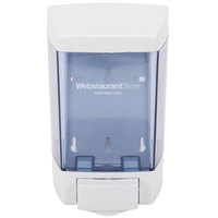 "46 oz. White Bulk Foam Hand Soap and Sanitizer Dispenser (IMP 9344) - 5 1/2"" x 4 1/4"" x 8 1/2"""