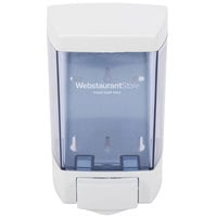 46 oz. White Bulk Foam Hand Soap and Sanitizer Dispenser (IMP 9344) - 5 1/2 inch x 4 1/4 inch x 8 1/2 inch