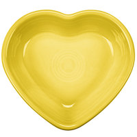 Homer Laughlin 747320 Fiesta Sunflower 9 oz. Heart Bowl - 4/Case