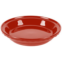 Homer Laughlin 487326 Fiesta Scarlet 10 1/4 inch Deep Dish Pie Baker - 4/Case