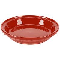 Homer Laughlin 487326 Fiesta Scarlet 10 1/4 inch Deep Dish Pie Baker - 4/Case