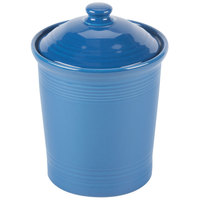 Homer Laughlin 571337 Fiesta Lapis Small 1 Qt. Canister with Cover - 2/Case