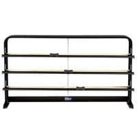 Bulman T324-24 24 inch Horizontal Black Countertop 3 Roll Paper Cutter Rack