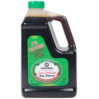 Kikkoman Naturally Brewed Less Sodium Soy Sauce .5 Gallon Container - 6/Case