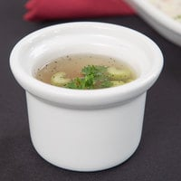 Tuxton BWS-0805 8 oz. White Petite China Marmite Soup Crock / Bowl - 12/Case