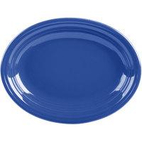 Homer Laughlin 457337 Fiesta Lapis 11 5/8 inch Medium Oval Platter   - 12/Case