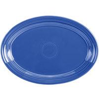 Homer Laughlin 456337 Fiesta Lapis 9 5/8 inch Small Oval Platter - 12/Case