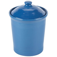 Homer Laughlin 572337 Fiesta Lapis Medium 2 Qt. Canister with Cover - 2/Case