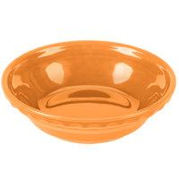 Homer Laughlin 417325 Fiesta Tangerine 6 3/8 inch Small Pie Baker - 6/Case