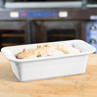 Homer Laughlin 813100 Fiesta White 5 3/4 inch x 10 7/8 inch x 3 inch Loaf Pan - 3/Case