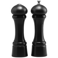 Chef Specialties 08301 Professional Series 8 inch Customizable Windsor Ebony Finish Pepper Mill and Salt Shaker