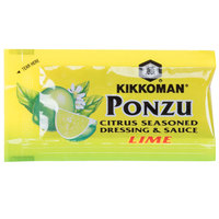 Kikkoman Lime Ponzu Citrus Seasoned Dressing & Sauce 6 mL Packet - 500/Case