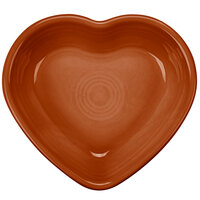 Homer Laughlin 747334 Fiesta Paprika 9 oz. Heart Bowl - 4 / Case