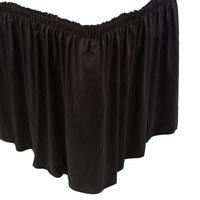 Marko 5024EG29AF014 Trufinish Classic Black 17' 6 inch Twill Skirting with Shirred Pleat