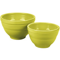 Homer Laughlin 867332 Fiesta Lemongrass 2-Piece Prep Baking Bowl Set - 2 Sets / Case