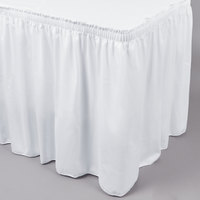 Marko 5024FW29AF010 Trufinish Classic White 21' Twill Skirting with Shirred Pleat
