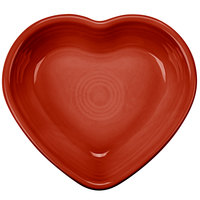 Homer Laughlin 747326 Fiesta Scarlet 9 oz. Heart Bowl - 4/Case