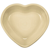 Homer Laughlin 747330 Fiesta Ivory 9 oz. Heart Bowl - 4/Case