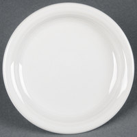 Homer Laughlin 1461100 Fiesta White 6 5/8 inch Round Appetizer Plate - 12/Case