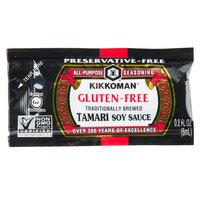Kikkoman 6 mL Gluten Free Preservative Free Tamari Soy Sauce - 200/Case