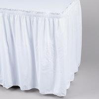 Marko 5024EG29AF010 Trufinish Classic White 17' 6 inch Twill Skirting with Shirred Pleat