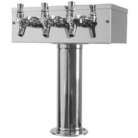 Micro Matic D7743PSS Stainless Steel 3 Tap T Style Tower - 3 inch Column