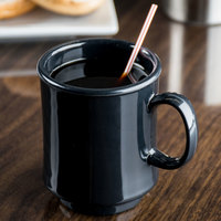 GET TM-1308-BK Black Elegance 8 oz. Black Tritan Stacking Mug - 24/Case