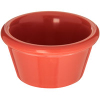 Carlisle 085252 2 oz. Sunset Orange Smooth Plastic Ramekin - 72/Case