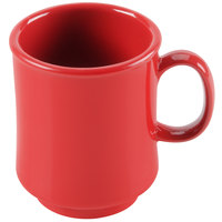 GET TM-1308-CR Diamond Harvest 8 oz. Cranberry Tritan Stacking Mug - 24/Case