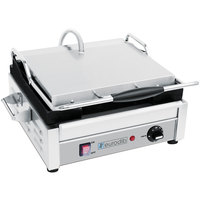 Eurodib SFE02340 Single Panini Grill with Smooth Plates - 14 1/2 inch x 9 3/8 inch Cooking Surface - 110V, 1800W