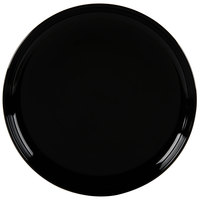 Tuxton BBA-1315 DuraTux 13 1/8 inch Black China Pizza Serving Plate - 6/Case