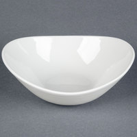 Tuxton BPD-0807 DuraTux 20 oz. Porcelain White China Capistrano Bowl - 12 / Case