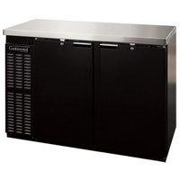 Continental Refrigerator BBC59S 59 inch Black Shallow Depth Solid Door Back Bar Refrigerator