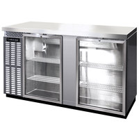 Continental Refrigerator BB69NSSGD 69 inch Stainless Steel Glass Door Back Bar Refrigerator