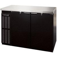 Continental Refrigerator BBC50S 50 inch Black Shallow Depth Solid Door Back Bar Refrigerator