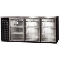 Continental Refrigerator BBC79S-GD 79 inch Black Shallow Depth Glass Door Back Bar Refrigerator