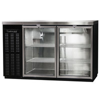 Continental Refrigerator BB50SNGD 50 inch Black Shallow Depth Glass Door Back Bar Refrigerator