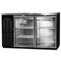 Continental Refrigerator BBC50S-GD 50 inch Black Shallow Depth Glass Door Back Bar Refrigerator