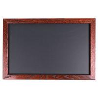 Aarco 12 inch x 18 inch Mahogany Frame Black Chalk Board