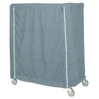 Metro 21X60X62CMB Mariner Blue Coated Waterproof Vinyl Shelf Cart and Truck Cover with Zippered Closure 21 inch x 60 inch x 62 inch