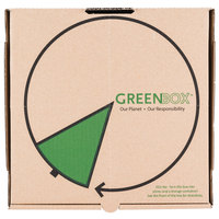 GreenBox 12 inch x 12 inch x 1 3/4 inch Corrugated Recycled Pizza Box with Built-In Plates and Storage Container - 50/Bundle