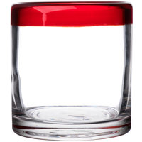 Libbey 92302R Aruba 12 oz. Rocks / Old Fashioned Glass with Red Rim - 12/Case