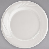 Tuxton YEA-062 Monterey 6 1/4 inch Eggshell Embossed Rim China Plate - 36/Case